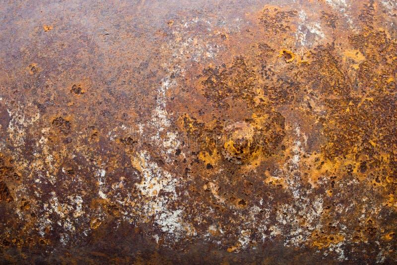 金属铁锈纹理摘要Grunge背景 免版税库存图片