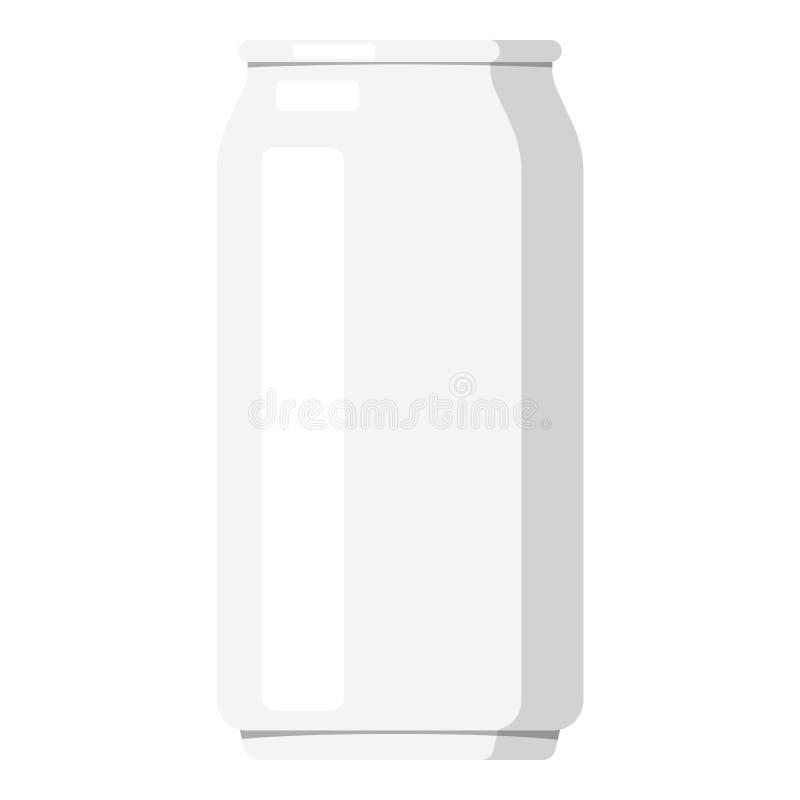 金属铝大模型,在白色背景隔绝的空白的罐头 库存例证