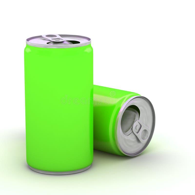 金属铝饮料饮料能 向量例证