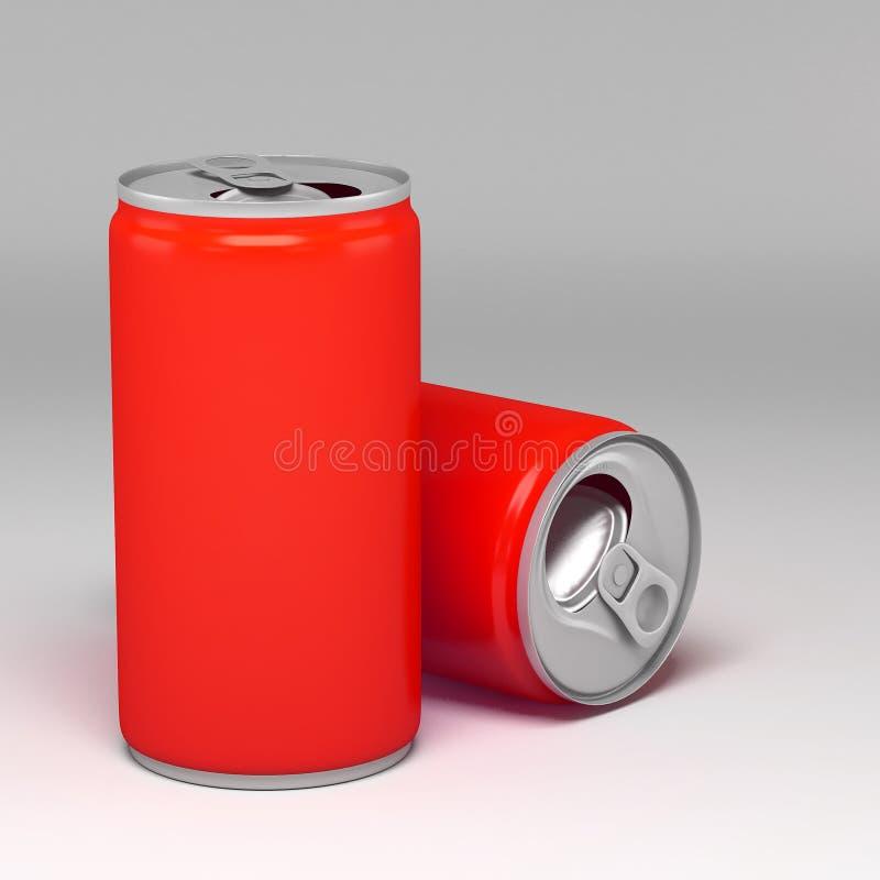金属铝饮料饮料能 皇族释放例证