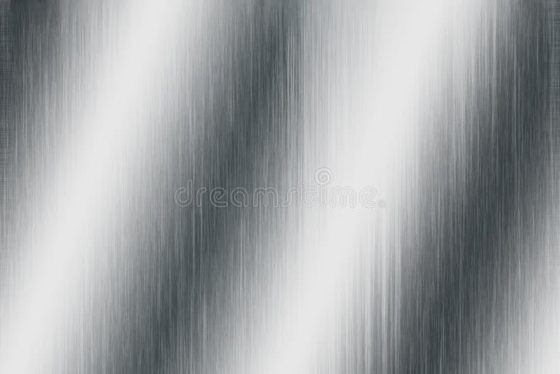 金属银色纹理 免版税库存图片