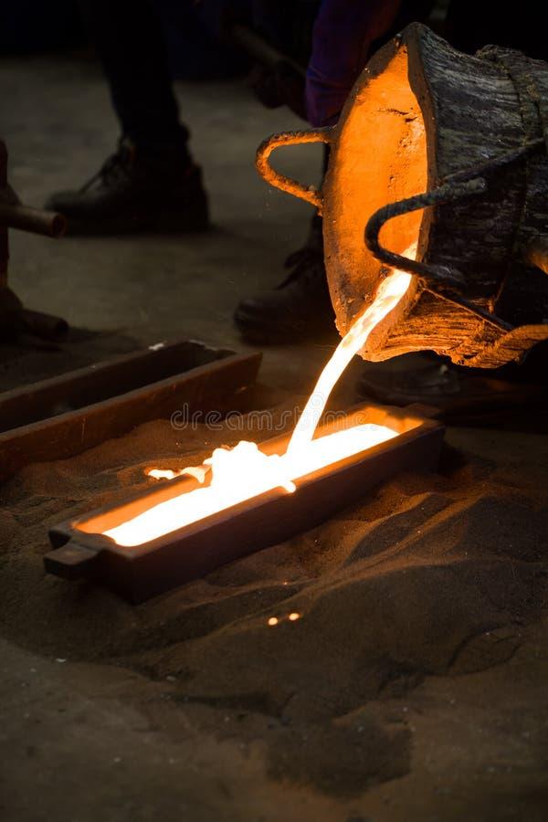 金属铸件,铸件工厂 免版税库存照片