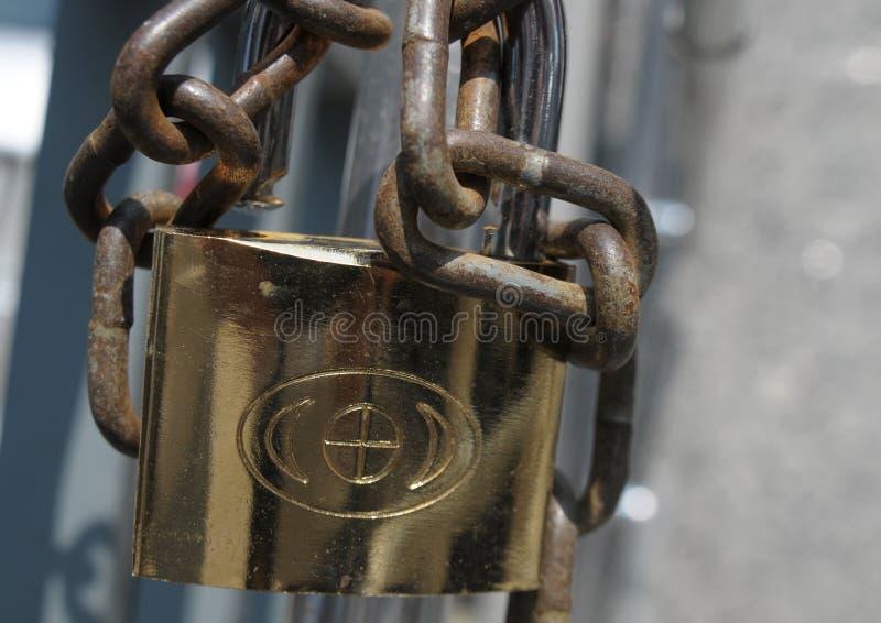 金属链子的关闭 免版税库存图片