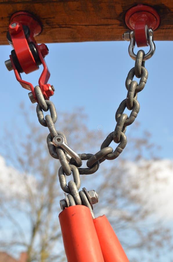 金属链定象摇摆 库存照片