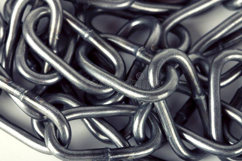 金属链零件背景 库存照片
