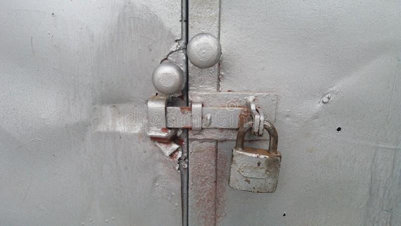 金属门锁 免版税库存照片