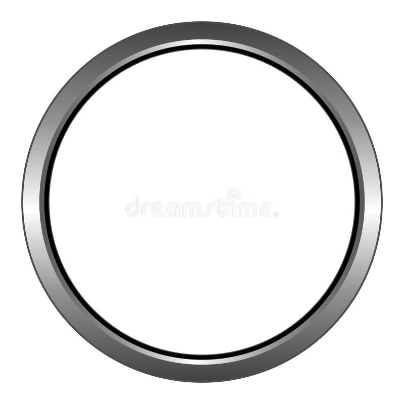 金属/钢圆环/圆象 查出在白色 皇族释放例证