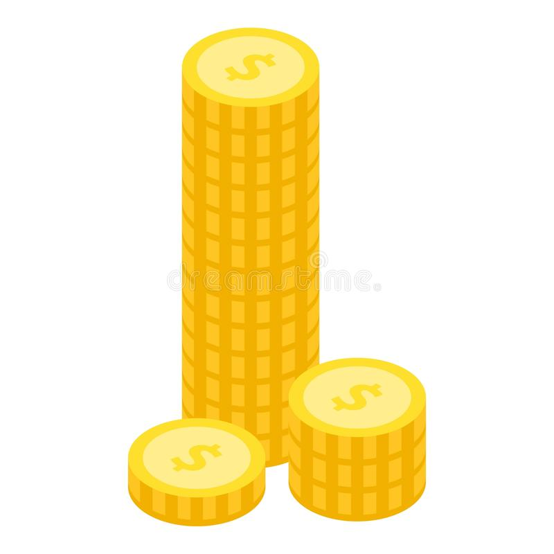 金币堆象,等量样式 向量例证