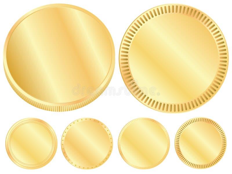 金币空白的集合 向量例证