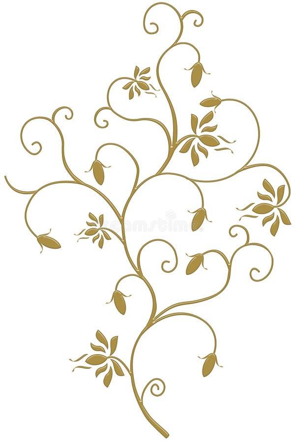 金常春藤是框架,设计爱 皇族释放例证