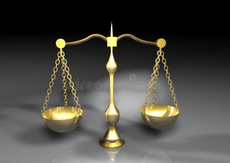 金平衡 库存例证