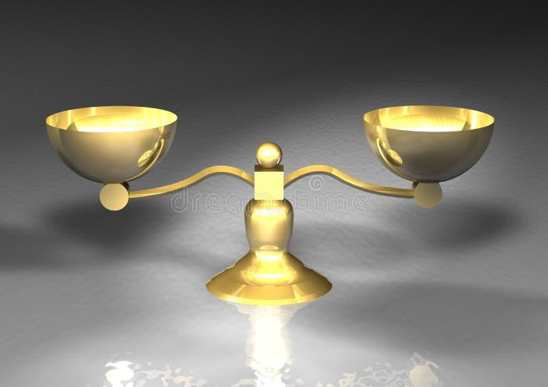 金平衡 向量例证