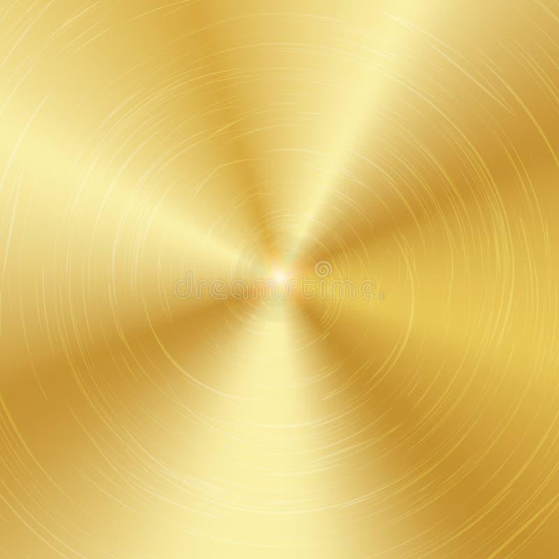 金或古铜金属摘要技术背景 优美,掠过的纹理 也corel凹道例证向量 库存例证
