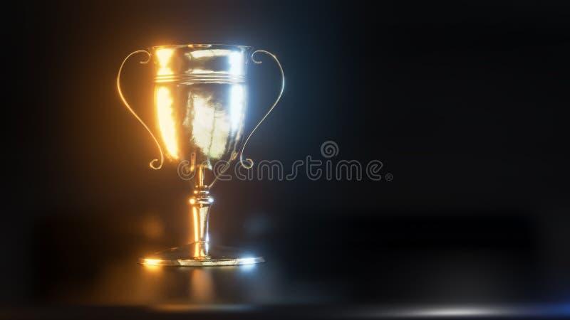 金战利品杯子3d例证 皇族释放例证