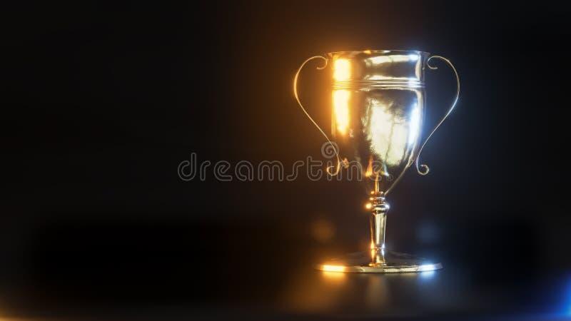 金战利品杯子3d例证 库存例证