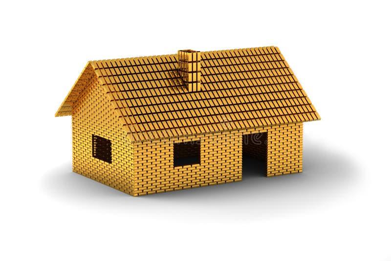金房子 向量例证
