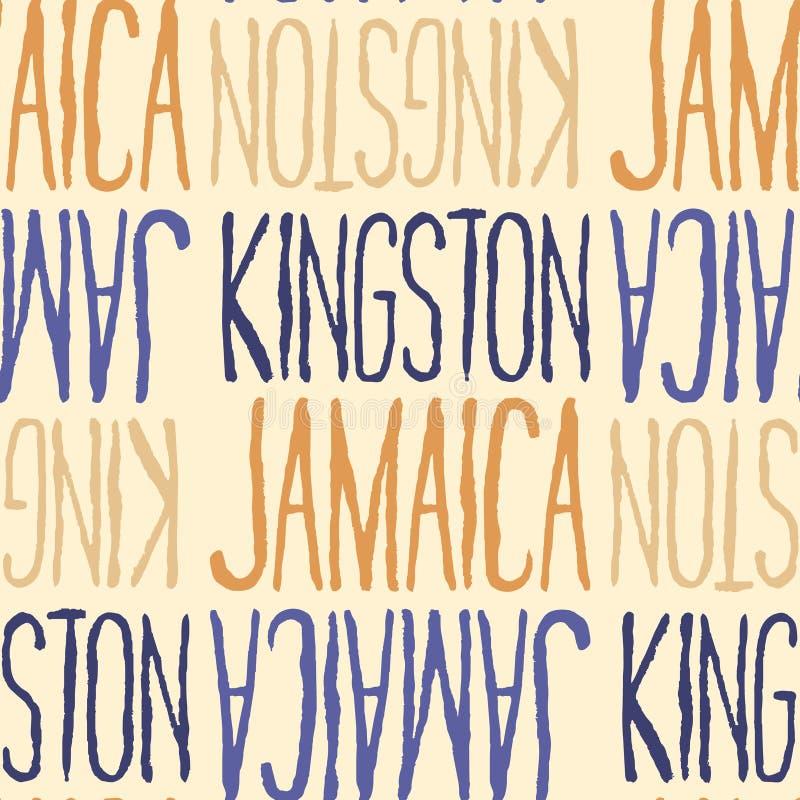 金斯敦,牙买加无缝的样式 皇族释放例证