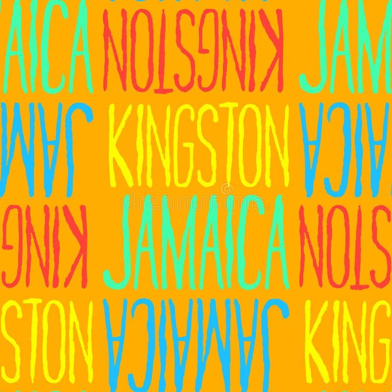 金斯敦,牙买加无缝的样式 向量例证