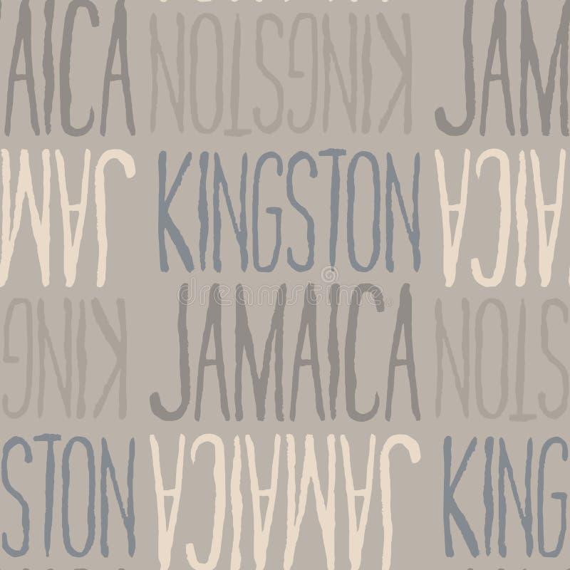 金斯敦,牙买加无缝的样式 库存例证
