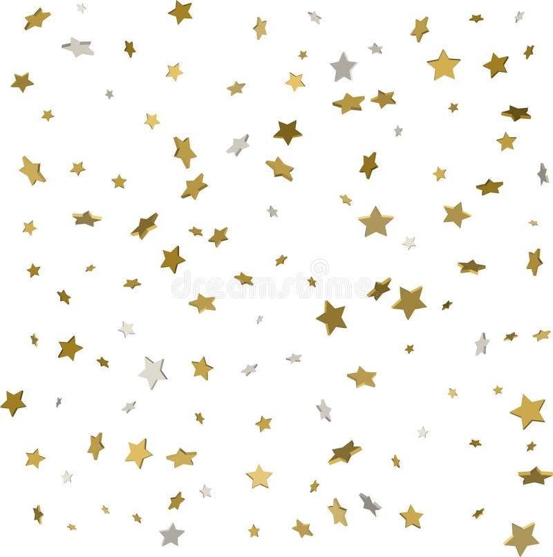 金星五彩纸屑雨欢乐假日背景 传染媒介golde 向量例证