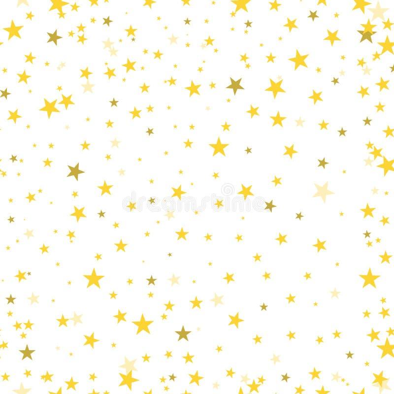 金星五彩纸屑驱散发光的无缝的样式摘要  向量例证