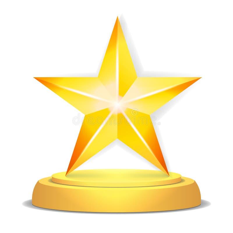 金星奖 发光的传染媒介例证 现代战利品,挑战奖 美好的标签设计 查出 皇族释放例证