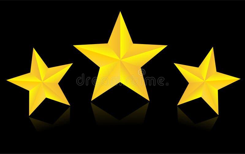 金星形 三个星传染媒介 皇族释放例证