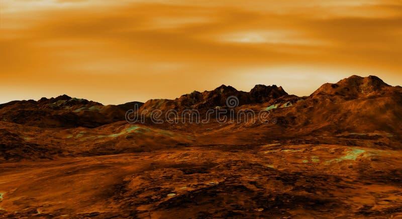 金星横向 库存例证