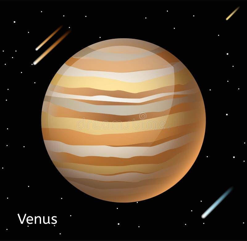 金星行星3d传染媒介例证 向量例证