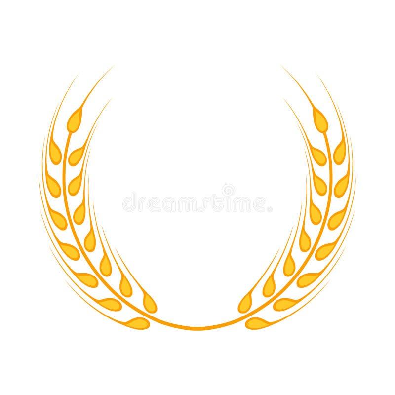 金月桂树花圈-优胜者的标志 向量例证