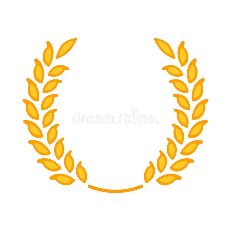 金月桂树花圈-优胜者的标志 皇族释放例证