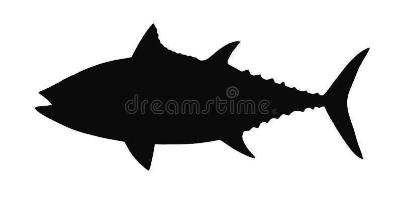 金枪鱼传染媒介剪影。 库存照片