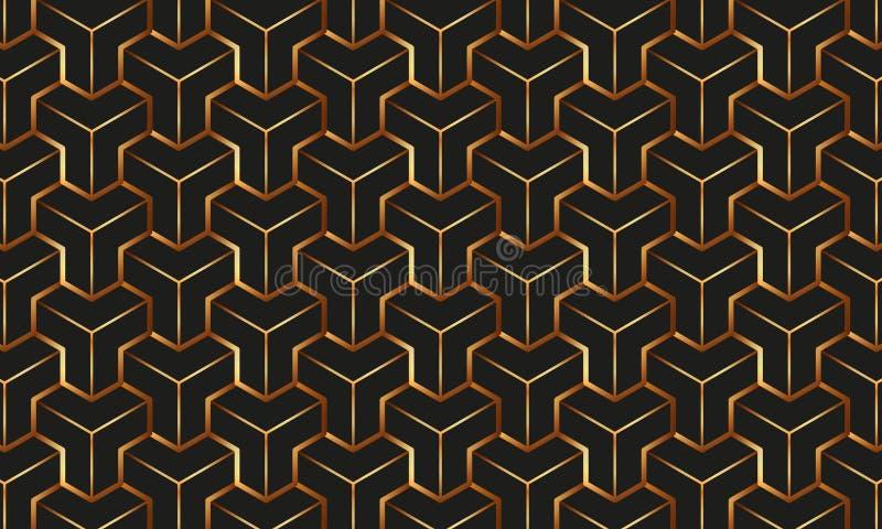 金样式几何 向量例证