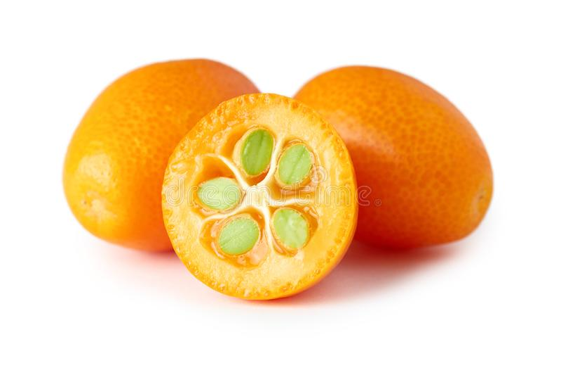 金桔或Cumquats 免版税库存照片