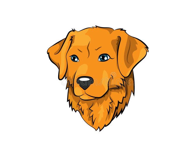 金毛猎犬传染媒介象例证 皇族释放例证