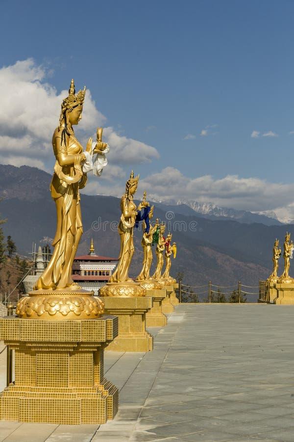 金法规在廷布不丹临近大菩萨点 图库摄影