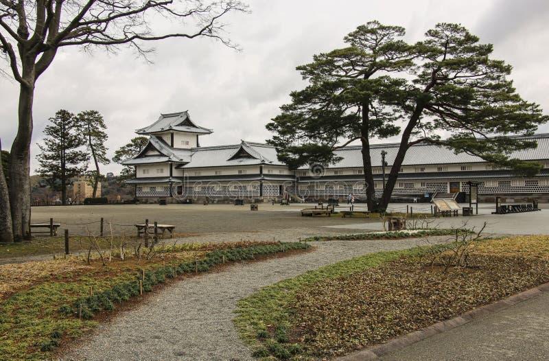 金泽城在今池,石川县,日本 免版税图库摄影