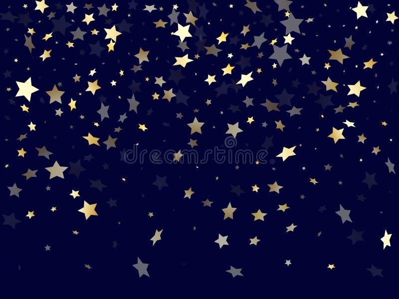 金流星闪烁梯度的闪闪发光元素导航背景 皇族释放例证