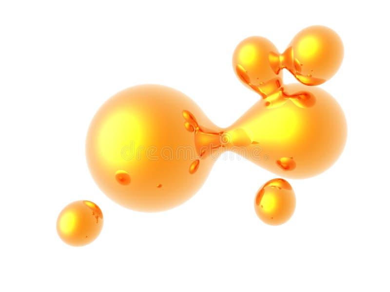 金液体 库存例证