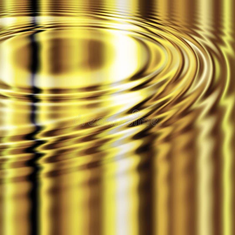 金溶解的波纹 库存例证