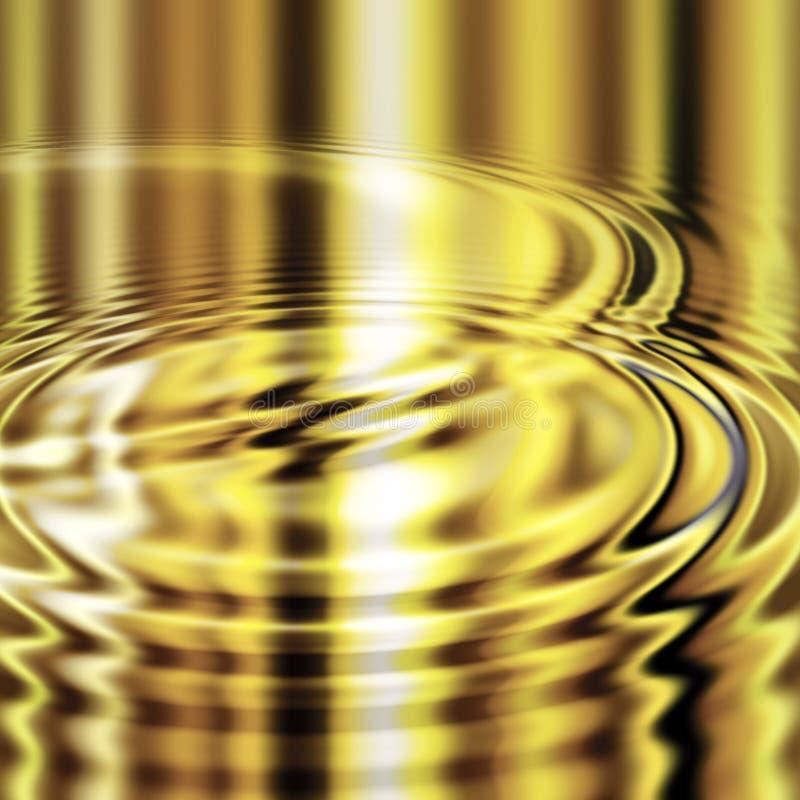 金溶解的波纹 向量例证