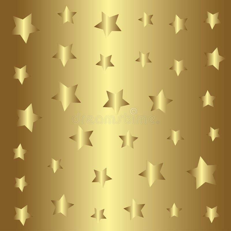 金特征模式,金黄样式背景 向量例证