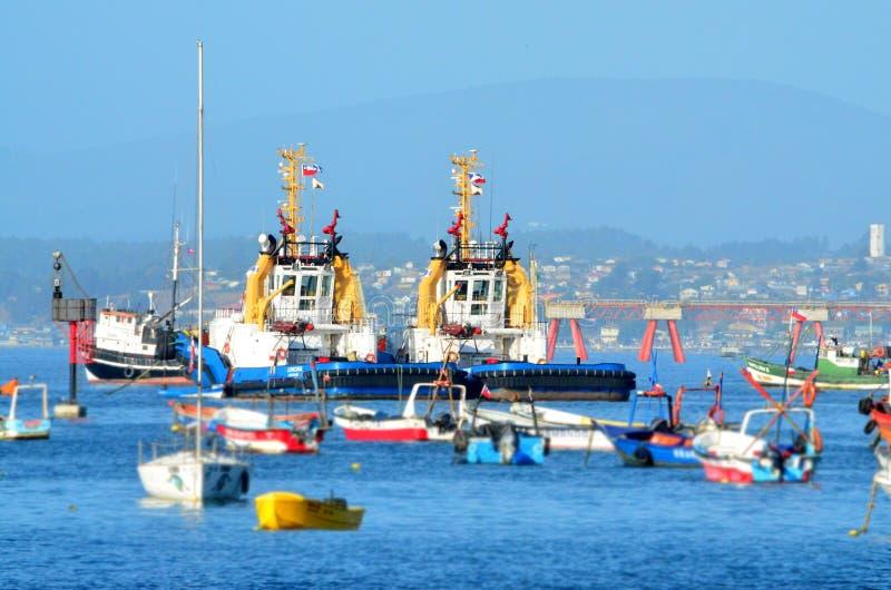 金特罗智利-口岸 免版税库存图片