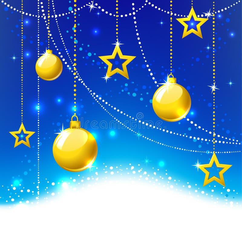 金球和星形。 免版税库存照片