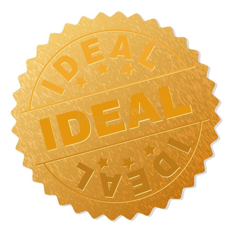金理想的徽章邮票 向量例证