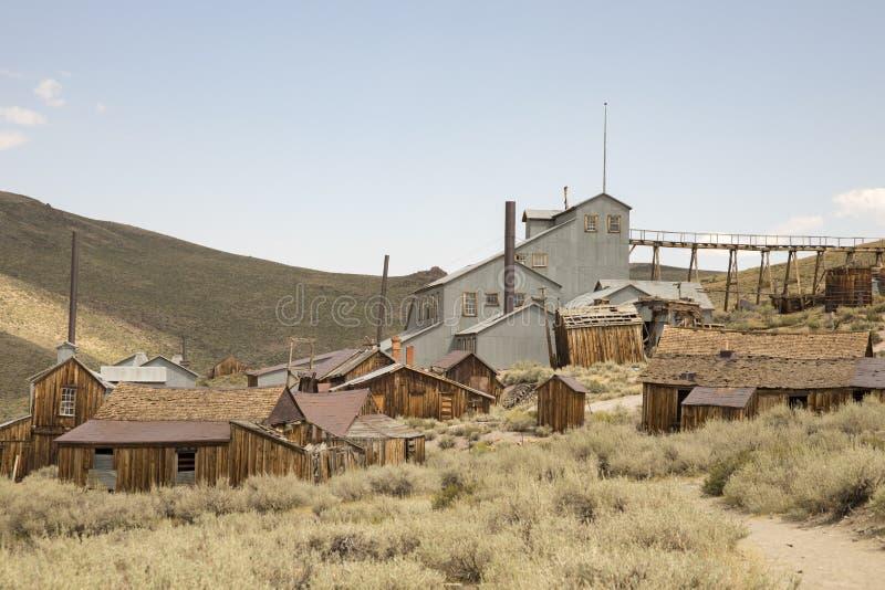 金矿邮票或标准磨房, Bodie,加利福尼亚 库存照片