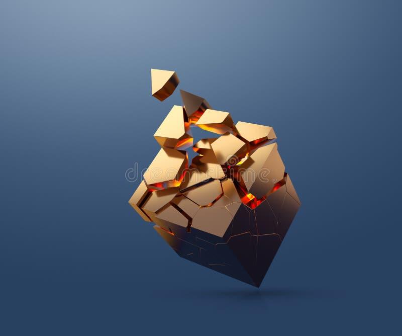 金立方体分割 皇族释放例证