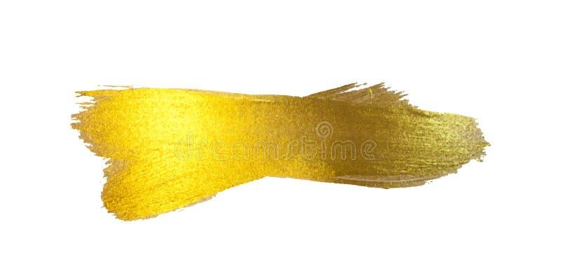 金箔例证 您的水彩纹理油漆污点摘要光亮的刷子冲程惊人的设计项目 空白 库存例证