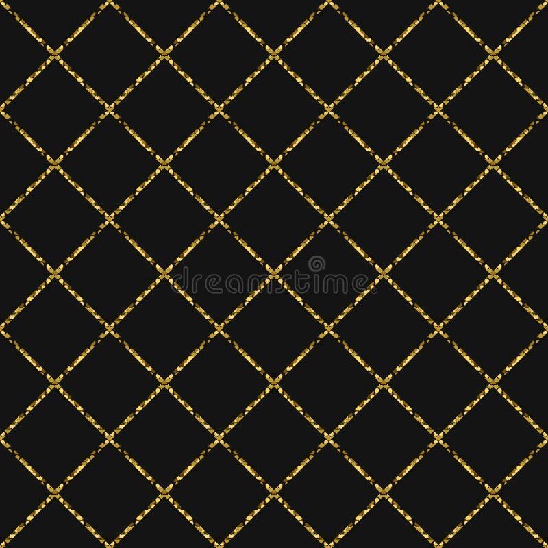 金箔闪烁线镶边无缝的样式 向量例证