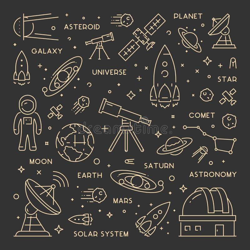 金线天文的网概念 向量例证